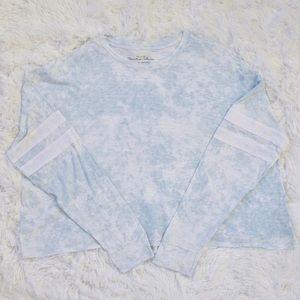 Hollister Tie Dye Stripe Detail Long Sleeve Tee